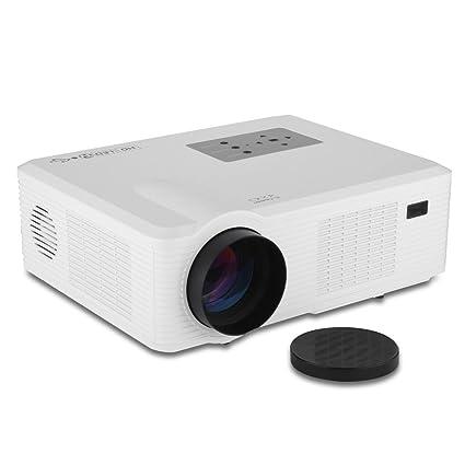 Excelvan-Proyector de vídeo LED, LCD, 2400 lm Home Cinema PC ...