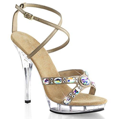 Fabulicious Lip-145 - sexy chaussures Femmes talon hauts mini plateau sandalettes 35-43