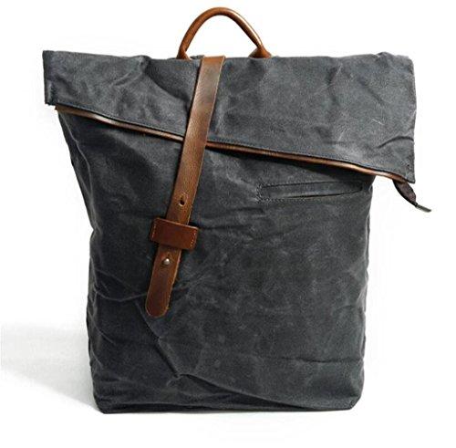 Great Strange Ocio doble bolsa de hombro estudiante bolsa de viaje hombres y mujeres impermeables aplicar cuatro colores 0.82kg , deep grey deep grey