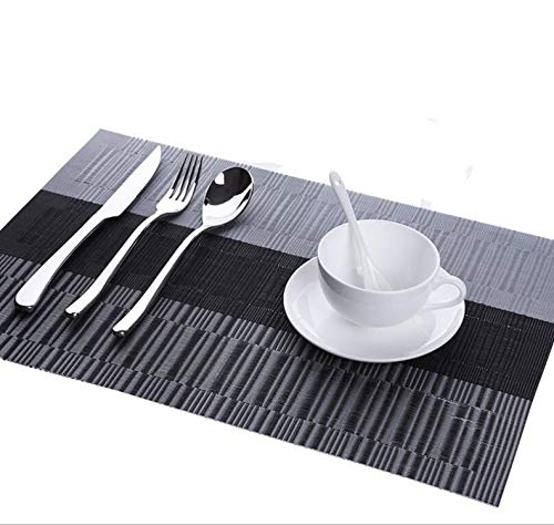Stanton Home Furnishings - Ge-store 2/4/6Pieces Dining Table Mat PVC Placemats Heat Insulation Non-Slip Kitchen Table Mats Washable Placemat Bowl,Color 1,4Pieces