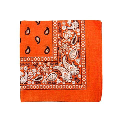 3 Pack Mechaly Dog Bandana Neck Scarf Paisley 100% Polyester Double Sided Bandanas - Any Pets (Orange Dog Bandana)