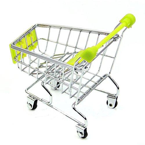 Creazy 2016 Mini Supermarket Handcart Shopping Utility Cart Mode Storage Basket Desk (Green)