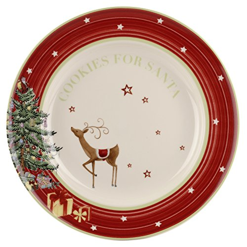 "Spode Portmeirion Cookie Plate ""Cookies for Santa"""
