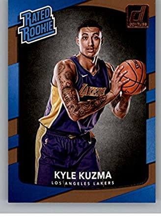 0bdd5660216 Amazon.com  2017-18 Donruss  174 Kyle Kuzma RC Rookie Lakers Rated ...