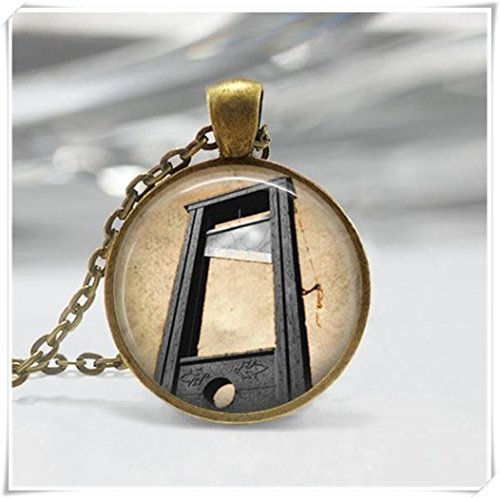 yi sheng Guillotine Necklace, French Revolution Creepy Halloween