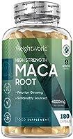 Maca Andina Cápsulas Pura Concentrada Vegana 4000 mg 180 Cápsulas - Suplemento Maca Root para 6 Meses Suministro, Reduce...
