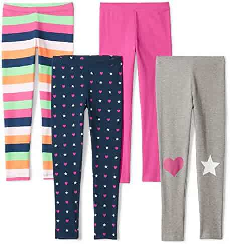 Amazon Brand - Spotted Zebra Girls' Toddler & Kids 4-Pack Leggings