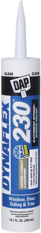 DAP 18304 DYNAFLEX 230, Clear 100% Waterproof Window, 10.1 oz