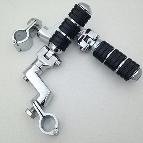 - XKH Group Motorcycle Chrome Footrest Foot Pegs 1.5