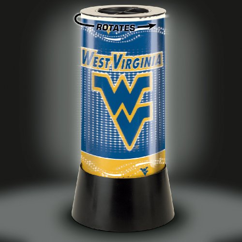 Lamp Rotating Mountaineers - Wincraft NCAA West Virginia University Rotating Lamp, 12