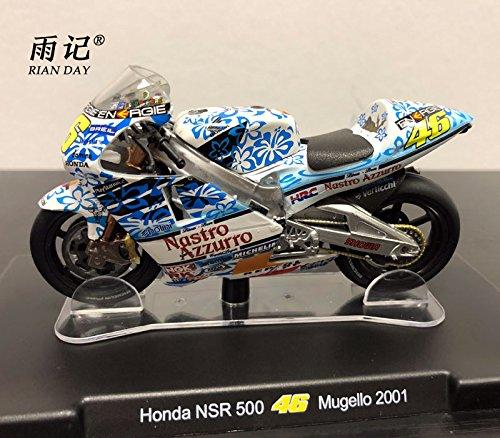 RIAN DAY 1/18 Scale MOTOGP Motorbike Model Valentino Rossi VR46 Honda NSR...
