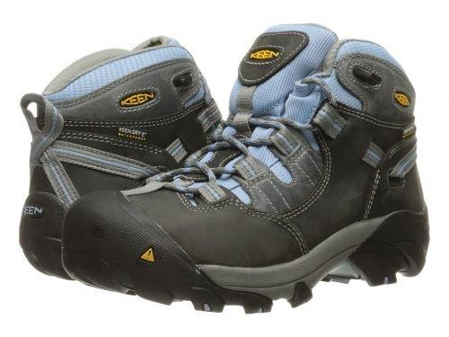 Keen Utility(キーン) レディース 女性用 シューズ 靴 ブーツ 安全靴 ワークブーツ Detroit Mid Soft Toe Magnet/Blue Bell [並行輸入品] B07BTFT8TS 10 B Medium