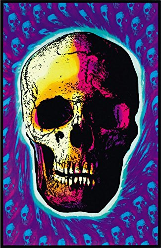 Skull Trip Blacklight Poster with Hanger