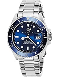 "Mens Stainless Steel ""Specialty Aquamaster"" Professional Dive Watch with Date"