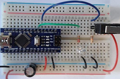 Nano V3.0, Nano Board ATmega328P 5V 16M Micro-Controller Board for Arduino (Nano x 1 with USB Cable). Pins Without Soldering. Fully arduino Compatible.