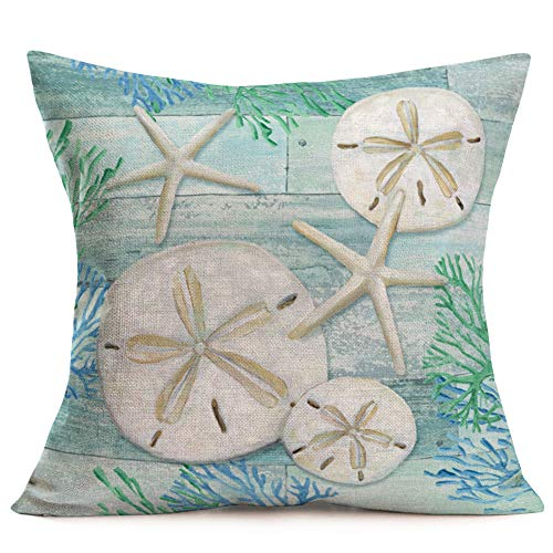 Smilyard Vintage Wooden Marine Life Decorative Pillow Covers