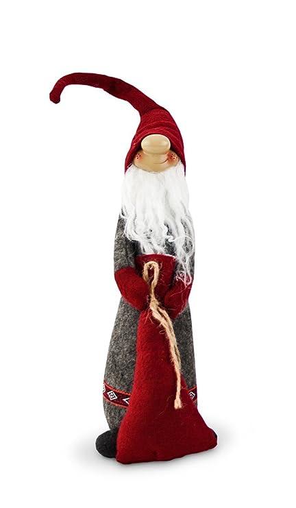 Figura de gnomo Enano con Navidad Saco de tela Fieltro Rojo Gris, 41 ...