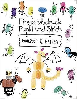 Fingerabdruck Punkt Und Strich Monster Und Helden Zeichenspass