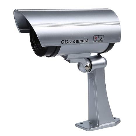 SODIAL(R) Camaras de Vigilancia Seguridad IR Simulado / Falso Inalambrico Impermeable. Con