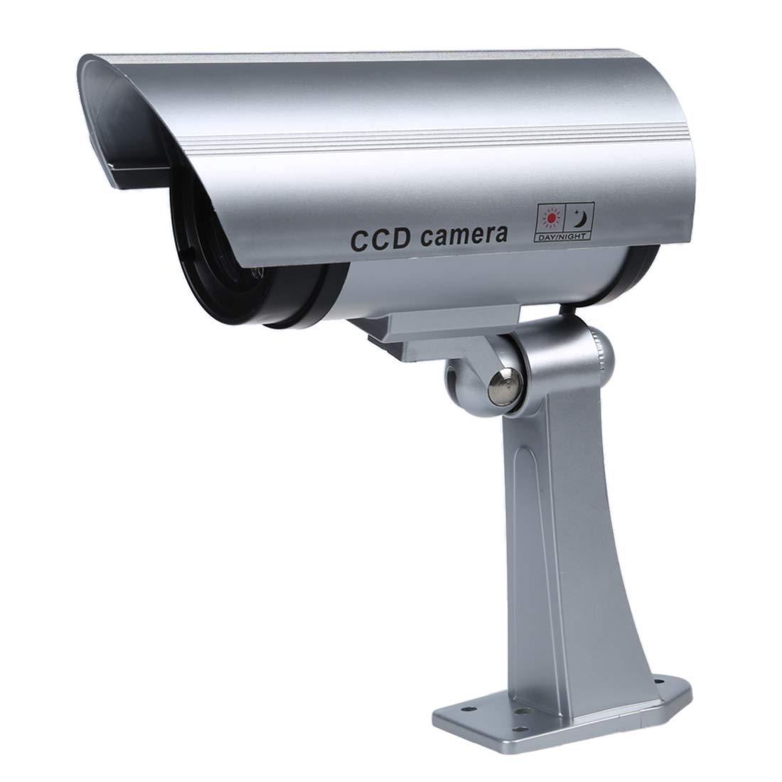 SODIAL(R) Camaras de Vigilancia Seguridad IR Simulado / Falso Inalambrico Impermeable. Con Luz Intermitente LED Rojo, LED IR Falso. Soporte de Montaje Incluido product image
