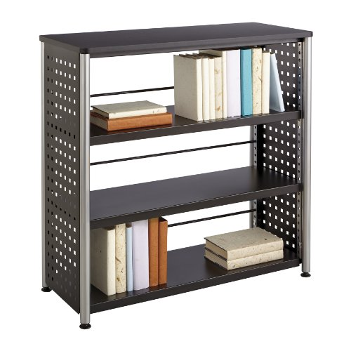 (Safco Products 1602BL Scoot Bookcase with 3 Shelves, Black)