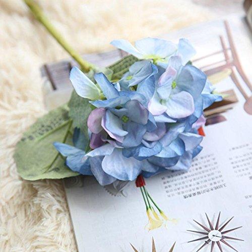 Besde Artificial Silk Fake Flowers Hydrangea Floral Wedding Party Bouquet Decor (1 bunch, E) Hydrangeas Bouquet Paper