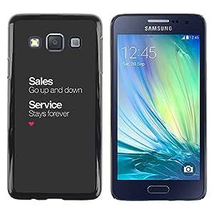 TopCaseStore / la caja del caucho duro de la cubierta de protección de la piel - Business Office Corporate - Samsung Galaxy A3 SM-A300