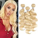 Best Hair Weave Blonde 3 Bundles - Brazilian Remy 613 Hair Bundles Body Wave Weft Review