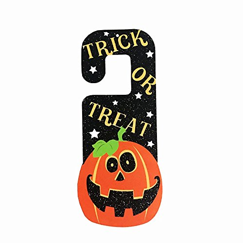 PENGYGY Halloween Props Paper Hanging Tag Accessories Door Window Party Decoration Bedroom Cartoons (D)]()