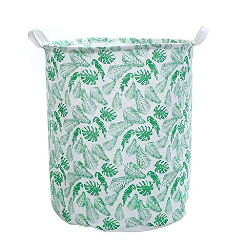 Fan-Ling 1PCS Waterproof Sheets Laundry Clothes Laundry Basket,Storage Basket Folding Storage,Dirty Clothes, Toys, Garbage Storage Basket, Storage Bucket, Big Capacity (Green)