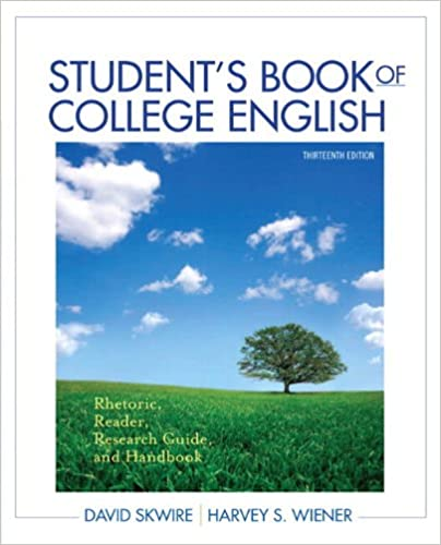 Student's Book of College English: Rhetoric, Reader,