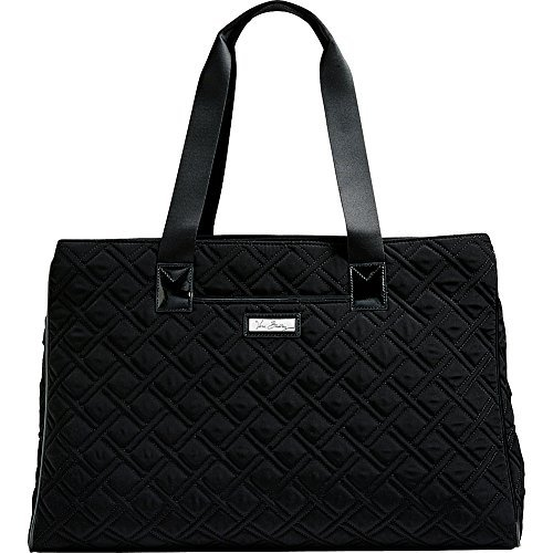 Vera Bradley Luggage Women's Triple Compartment Travel Bag Classic Black/Black Travel Tote