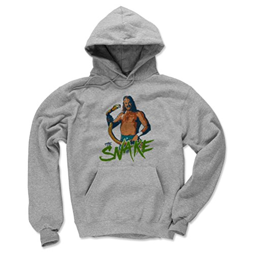 Jake The Snake Roberts Men's Hoodie - XXX-Large Gray - Old School WWF Wrestling Apparel - Jake The Snake Stare G by 500 LEVEL