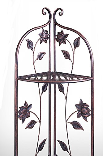 Heather Ann Creations W190935-LTC Lotus Kitchen Corner Bakers Rack, Copper by Heather Ann Creations (Image #5)