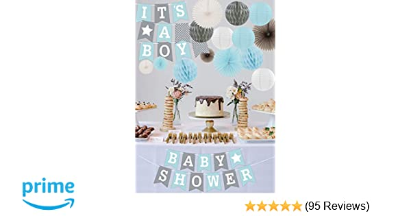 RainMeadow Premium Baby Shower Decorations For Boys Kit