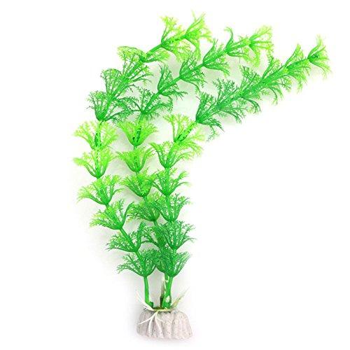 Techinal Aquarium Fish Tank Green Artificial Plastic Grass Plant Decoration
