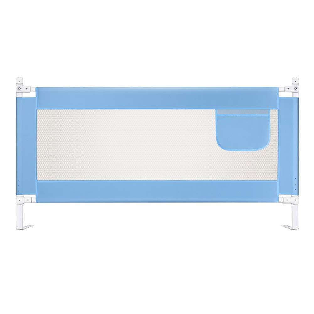 ベッドフェンス ベッドガードレールベッドフェンスキッズベッド安全ベッドレールフレーム折りたたみ簡単なベッドレールガード (色 : 青, サイズ さいず : Length 200cm) Length 200cm 青 B07JLPQ9QS