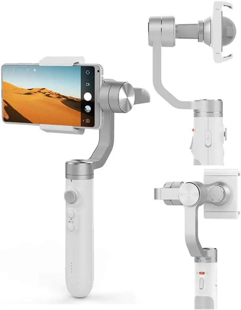 Estabilizador de mano cardán estabilizador con 5000mAh batería for la cámara del teléfono Acción grabar sus historias simplemente por todas partes for Vlog vivo Grabación de vídeo (color: gris, tamaño