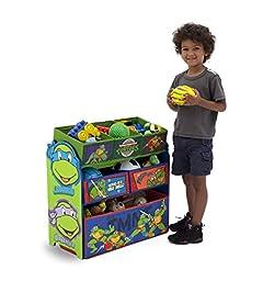 Delta Children Multi-Bin Toy Organizer, Nickelodeon Ninja Turtles
