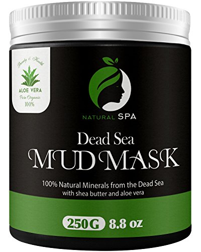 Best Cleanser Oily Face - Dead Sea Mud Mask - Natural Face Mask and Body Cleanser - Best Facial Treatment Pore Reducer & Minimizer Acne Blackheads & Oily Skin with Minerals 8.8 oz