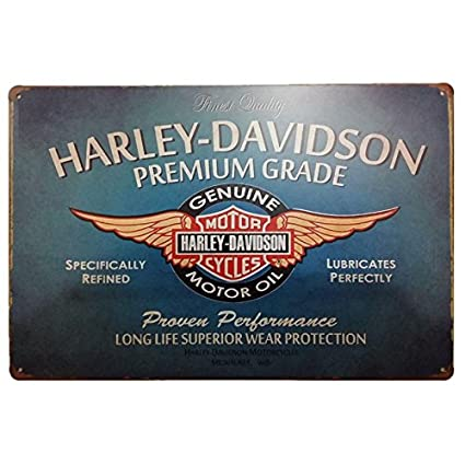 Placas Decorativas Vintage metalicas Harley Davidson. Carteles Chapa Pared Retro