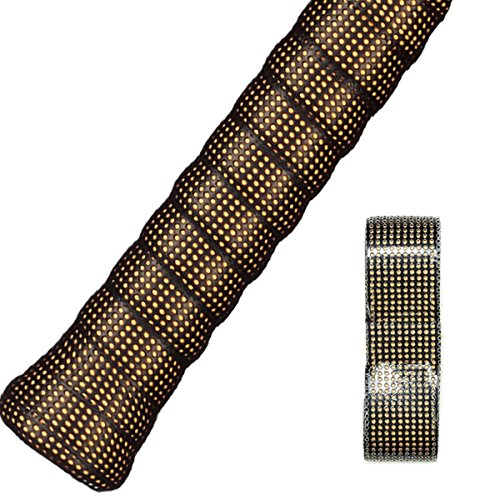 FJZ Perforated Super Absorbent and Anti-Slip Racket Grip for Tennis Overgrip,Badminton Overgrip,Squash Rackets,Fishing Poles,Racket Bike Bar and (Perforated Replacement Grip)