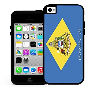 Delaware State Flag Weed Canabis 2 Piece Dual Layer Hard Silicone Cell Phone Case Cover iPhone (i5 5s) wangjiang maoyi