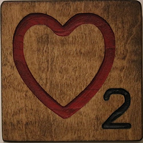 Red Heart Wall (Large Scrabble Letter Tile (5 x 6 Medium, Red Heart))