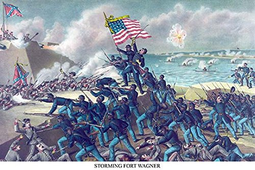 Buyenlarge 0-587-23261-7-P1218 African American Unit, The 54th Massachusetts Overruns Fort Wagner Paper Poster, 12