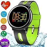 iGeeKid Smart Watch Fitness Tracker with IP67 Waterproof Heart Rate Blood Pressure Sleep Monitor for Men Women Sport Wristbands Pedometer Calorie for Summer Outdoor Running (Green)