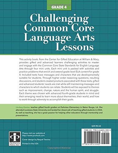 Amazon.com: Challenging Common Core Language Arts Lessons (Grade 4 ...