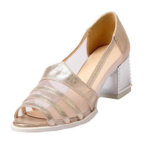 Miss Image UK - Sandalias de vestir de Material Sintético para mujer rosa/dorado ey3V2IrV8X
