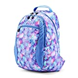 High Sierra Curve Lightweight and Compact Student Backpack - Stylish Bookbag or Lunch Backpack for Children, Teens, or Adults - Unisex Campus Backpack (Shine Blue/Lapis)