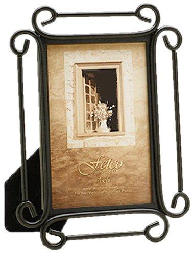Fetco Home Décor 910246 Alton Frame, Corner Scroll, Dark Bronze